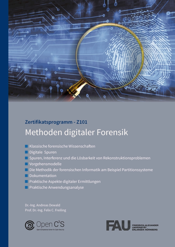 Studienbriefcover Methoden digitaler Forensik