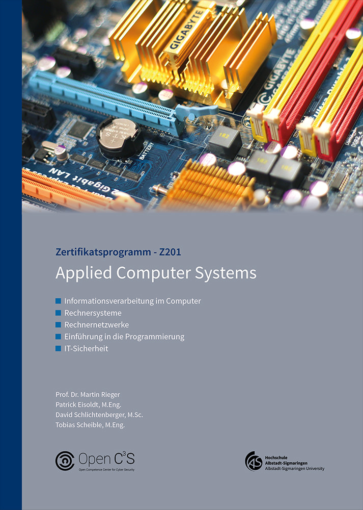 Studienbriefcover Applied Computer Systems